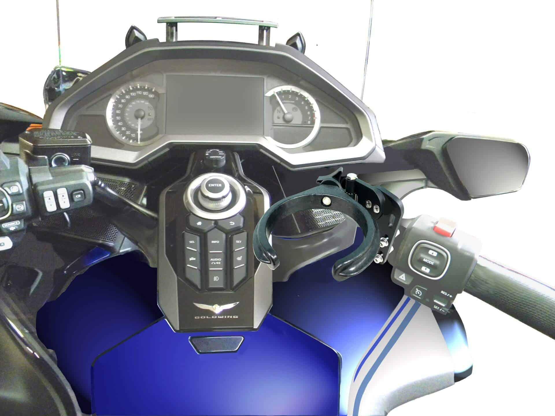 GRAPHITE DESIGN  Motorcycle Cup Drink Holder Bike ATV Handlebar Mount